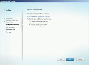 Machine Catalog machine management
