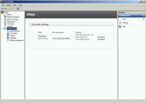 Studio Configuration overview