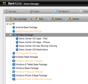 XenMobile Deploy Package General