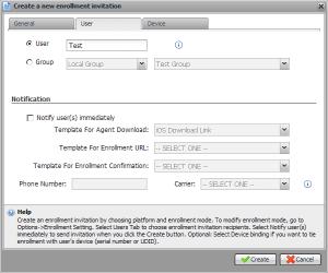 XenMobile Enrollment User Selection