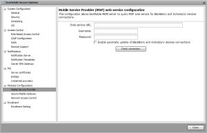 XenMobile Mobile Service Provider